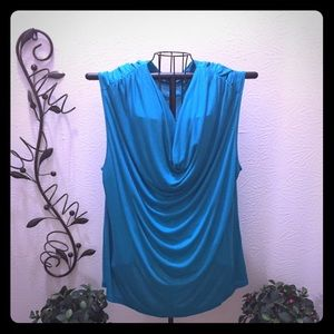 Breathtaking Teal Blouse by Anne Klein